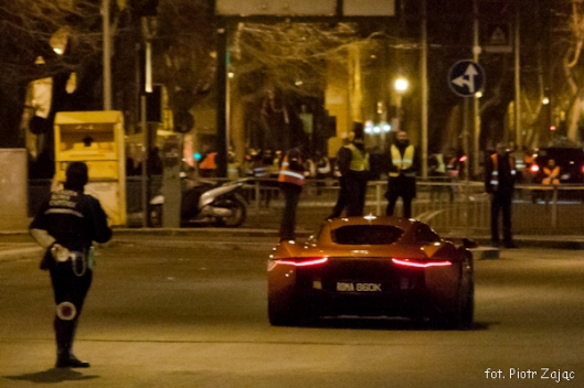 "Jaguar C-X75 in Rome on James Bond "" Spectre "" film set"