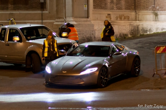 "Aston Martin DB10 in Rome on James Bond "" Spectre "" film set"