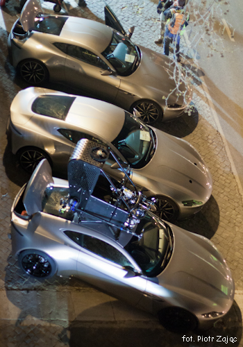 Aston Martin DB10 on 'Spectre' set in Rome.