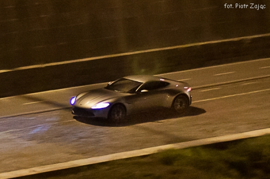 "Aston Martin DB10 at Tiber river on "" Spectre "" film set in Rome"