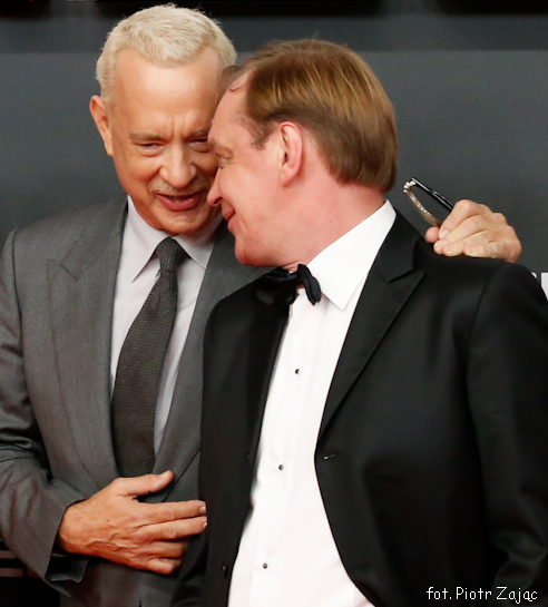 "Tom Hanks and Mikhail Gorevoy attend "" Bridge of Spies "" premiere in Berlin"