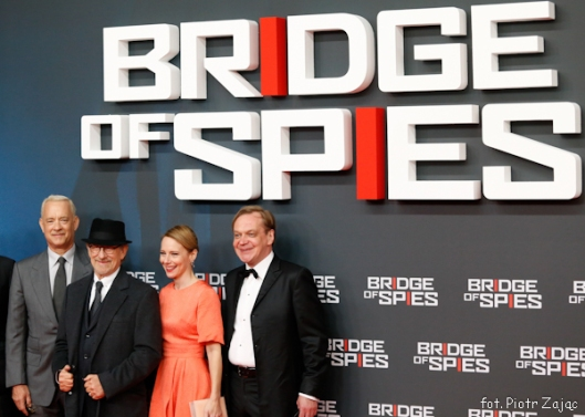 "Tom Hanks , Steven Spielberg , Amy Ryan , Mikhail Gorevoy attend "" Bridge of Spies "" premiere in Berlin"