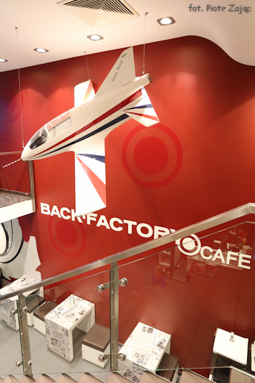 "Model of Acrostar BD-5J Micro Jet from "" Octopussy "" in BACK-FACTORY CAFE in Berlin"