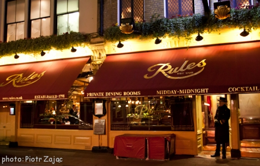 Rules restaurant in London
