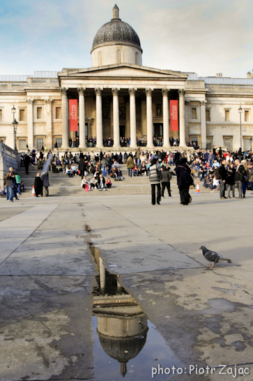 The National Gallery at Trafalgar Square in London