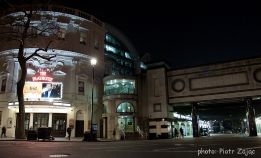The Playhouse Theatre and Embankment Place in London