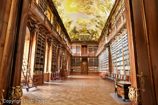 Philosophical Hall in Strahov Library in Prague, Czech Republic