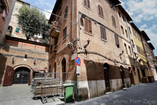 Via Salicotto and Piazzetta Della Paglietta in Siena, Italy