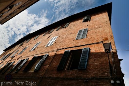 Via Pantaneto in Siena, Italy