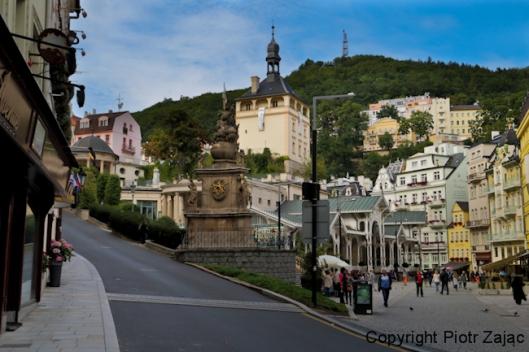 Trziste street in Karlovy Vary, Czech Republic