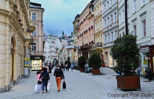 Lazenska street in Karlovy Vary, Czech Republic