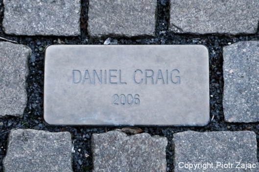 The Daniel Craig cobblestone at Grandhotel Pupp in Karlovy Vary, Czech Republic