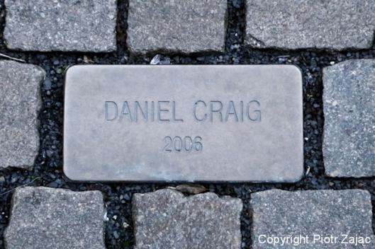 The Daniel Craig cobblestone at Grandhotel Pupp in Karlovy Vary, Czech Republic