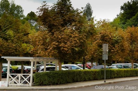 Parking lot at Grandhotel Pupp in Karlovy Vary, Czech Republic