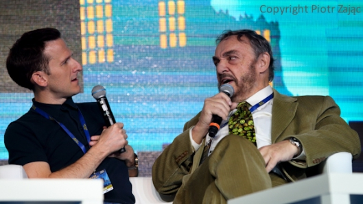 John Rhys-Davies and Adam Brown