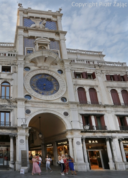Torre dell'Orologio at St. Mark's square in Venice, Italy