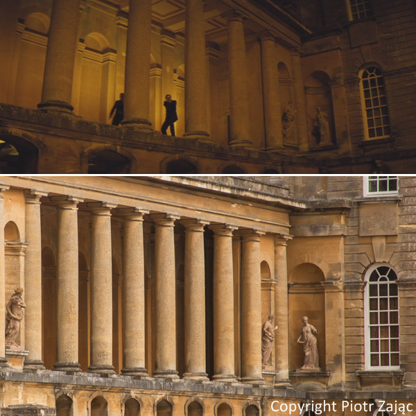 Palazzo Cardenza in Rome was doubled by Blenheim Palace in Woodstock (Oxfordshire), England.