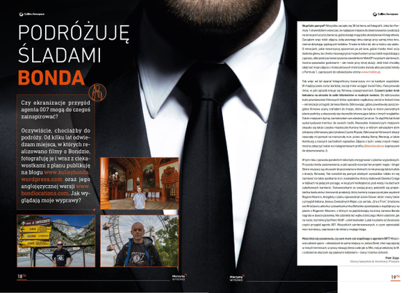 Article about by Bond travels for Collins Aerospace Wroclaw magazine