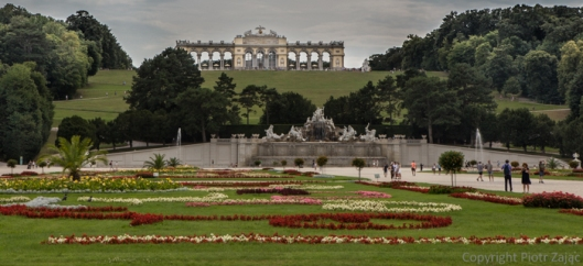 Gloriette at Schönbrunn Palace in Wien, Austria